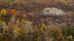 Mountain Landscape In November, Panoramic stock footage