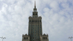 Palace of Culture and Science in Warsaw, Poland Live Action