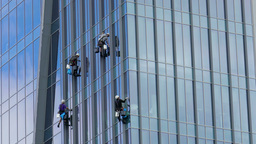 Skyscraper window cleaners 1 Footage