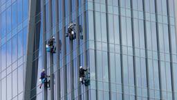 Skyscraper window cleaners 1 Footage