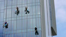 Skyscraper window cleaners 5 Footage
