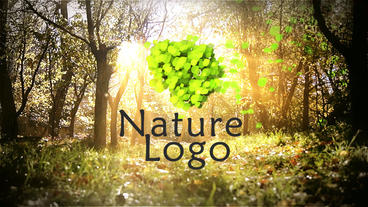 Nature Logo stock footage