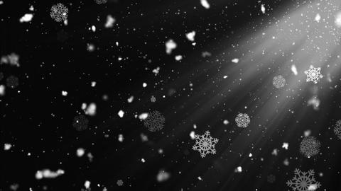 Snow Flakes Rays 2 Animation