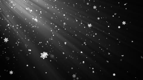 Snow Flakes Rays 1 Animation