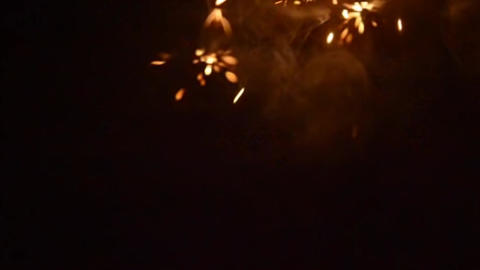 Sparks Overlay Stock Video Footage