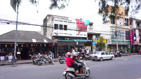CHIIANG MAI, THAILAND - MARCH 2015: local life street view of Chiang Mai, Thaila Footage