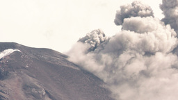Tungurahua Volcano Eruption Crater View stock footage