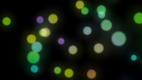 Easy Colored Circles Particles Game On Black Animation