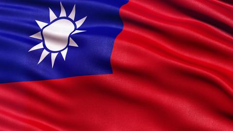 4K Taiwan flag seamless loop Ultra-HD Animation