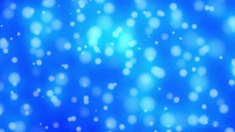 Light Blue Glowing Particles Bubbles Abstract Background Loop 1 Animation