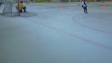 Hockey Players Trainning Live Action