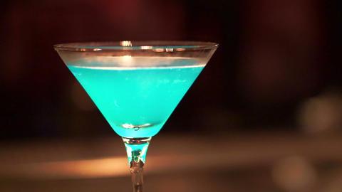 Blue Beach Bar Cocktail stock footage