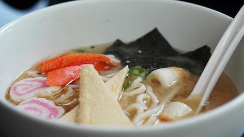 Hot Ramen, Japanese noodle miso soup Live Action