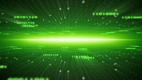 flying in binary cyberspace seamless loop 4k (4096x2304) Animation