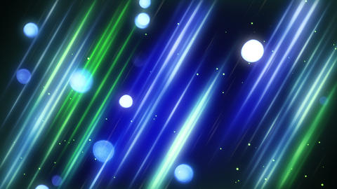 blurred blue and green diagonal lines and bokeh lights loop 4k (4096x2304) Animation