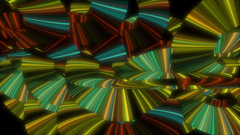 Multicolored Neon Rings animation VJ Loop Footage