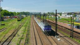 Intercity train in Gdansk, Poland Footage