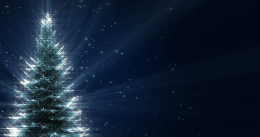 Shiny Christmas Tree CG動画素材