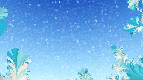 Abstract winter tracery motion background Loop 4K Animation
