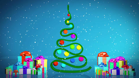 Abstract Christmas tree Animation