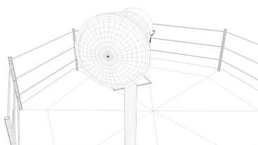 Berlin Wall Guard Tower v 1 3D Model