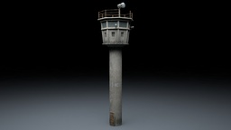 Berlin Wall Guard Tower v 1 Modelo 3D