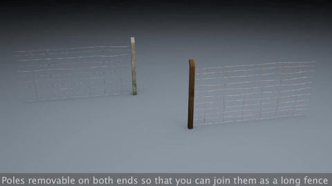 Berlin Wall Old Fences 3D Model