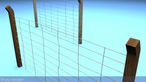 Berlin Wall Old Fences 3D Model
