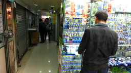 Shopping Center Specialised On Computer Games stock footage