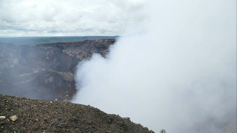 Looking in the crater of the Masaya vulcano, time lapse Stock Video Footage
