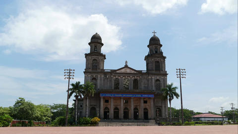 Santiago of Managua Cathedral, time lapse Stock Video Footage