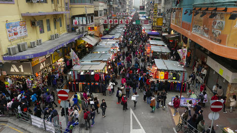 Crowded souk street, general view with sound Footage