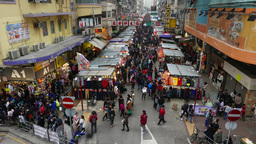 Crowded souk street, general view with sound Stock Video Footage