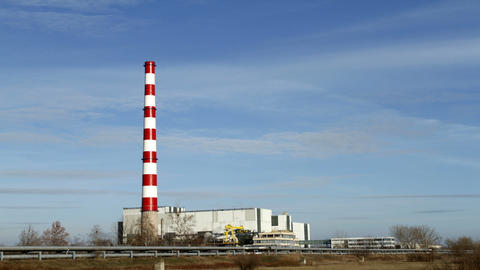 Chimney of thermal power plants Footage