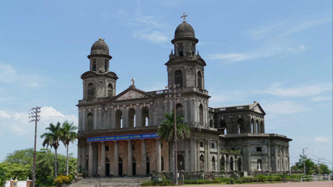 Santiago of Managua Cathedral, time lapse Footage