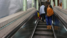 Connection between two escalators, mid-levels Footage
