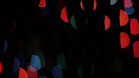 Colorful lights bokeh on black background. Shape Stock Video Footage