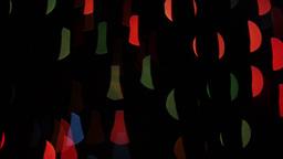 Colorful lights bokeh on black background. Shape Footage