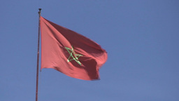 Flag of Morocco Stock Video Footage