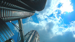 Kuala Lumpur Petronas Towers On A Sunny Day stock footage