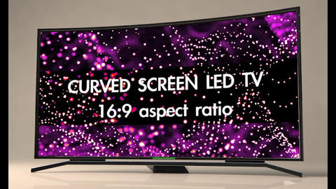 Curved Screen Televisions 3D Model