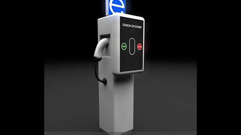 Electric Vehicle Charging Station Complex 3D Model
