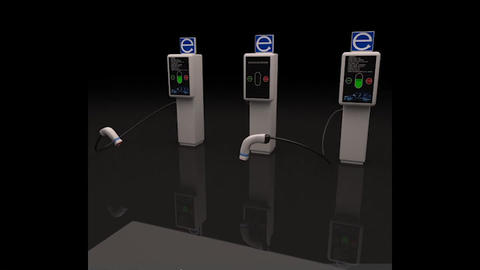 Electric Vehicle Charging Station Units 3D Model