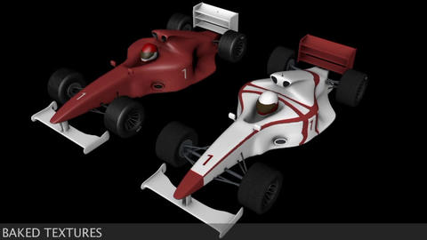 Formula 1 F1 Indy Type Sport Race Cars 3D