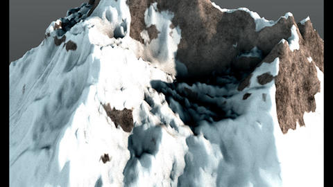 Mountain Peak 2 Low Poly 3D Model Modelo 3D