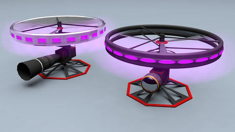 High End Camera Drone System 3D Model
