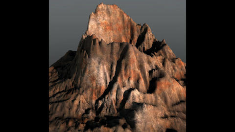 Prehistoric Volcano Low Poly 3D Model