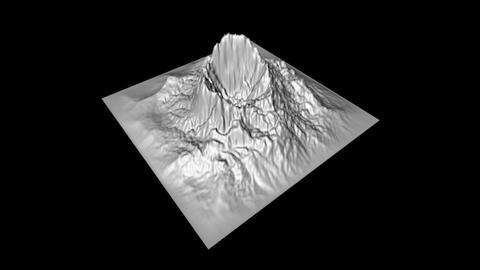 Prehistoric Volcano Low Poly, Modelo 3D Para Realidad Virtual y Aumentada (RV/RA)