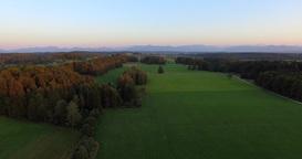 Bavarian Landscape At Sunrise , Germany stock footage