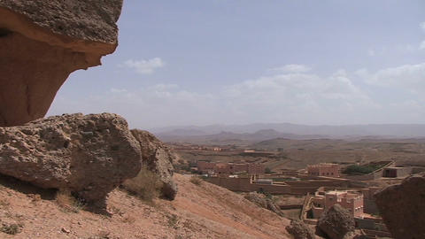 Dades Valley, rose valley, pan-shot Footage